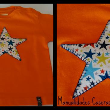 Manualidades para regalar: Camiseta estrella para niño