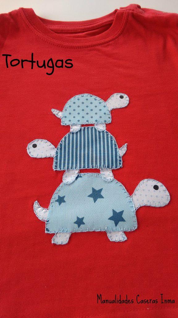 Manualidades Caseras Inma_ camiseta tortugas detalle de las tortugas