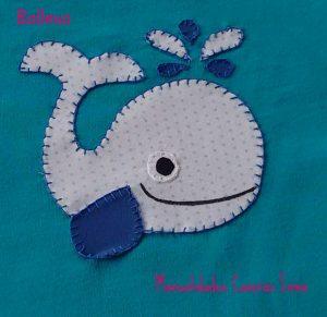 Manualidades Caseras Inma detalle camiseta niño ballena