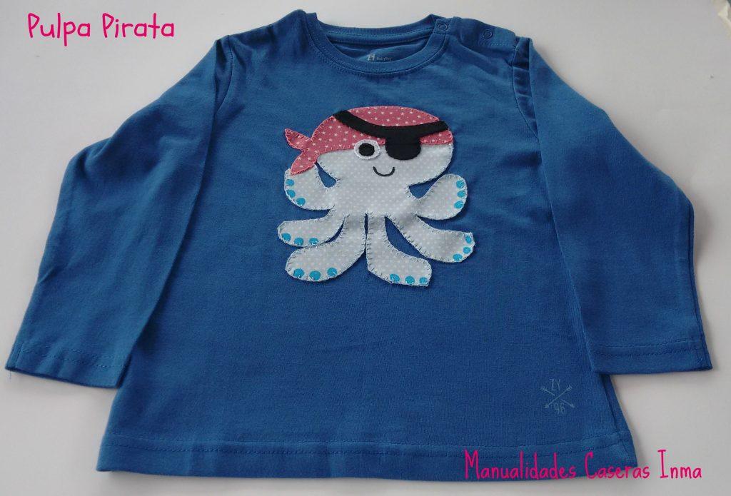 Manualidades Caseras Inma _ camiseta niño Pulpo Pirata