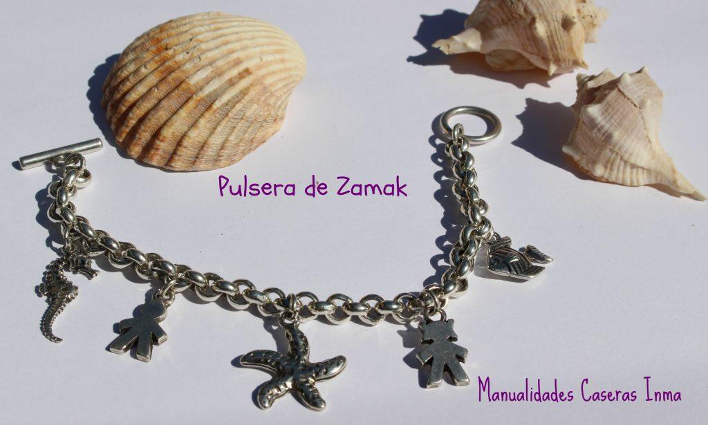 Manualidades Caseras Inma Pulsera Zamak Mar