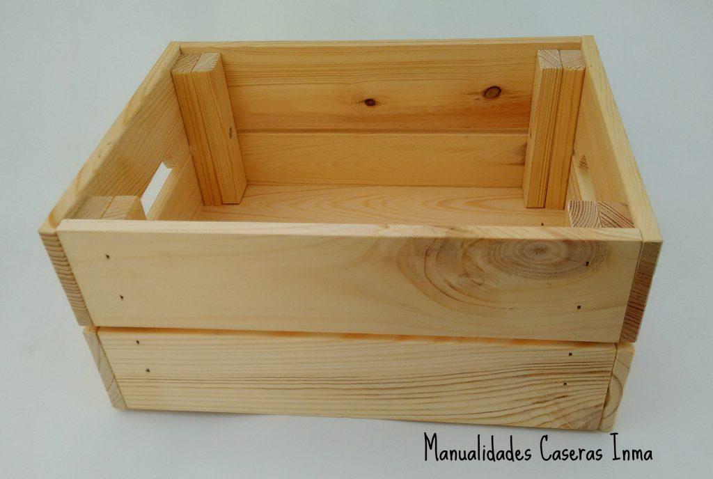 Manualidades Caseras Inma _Caja de madera sin pintar