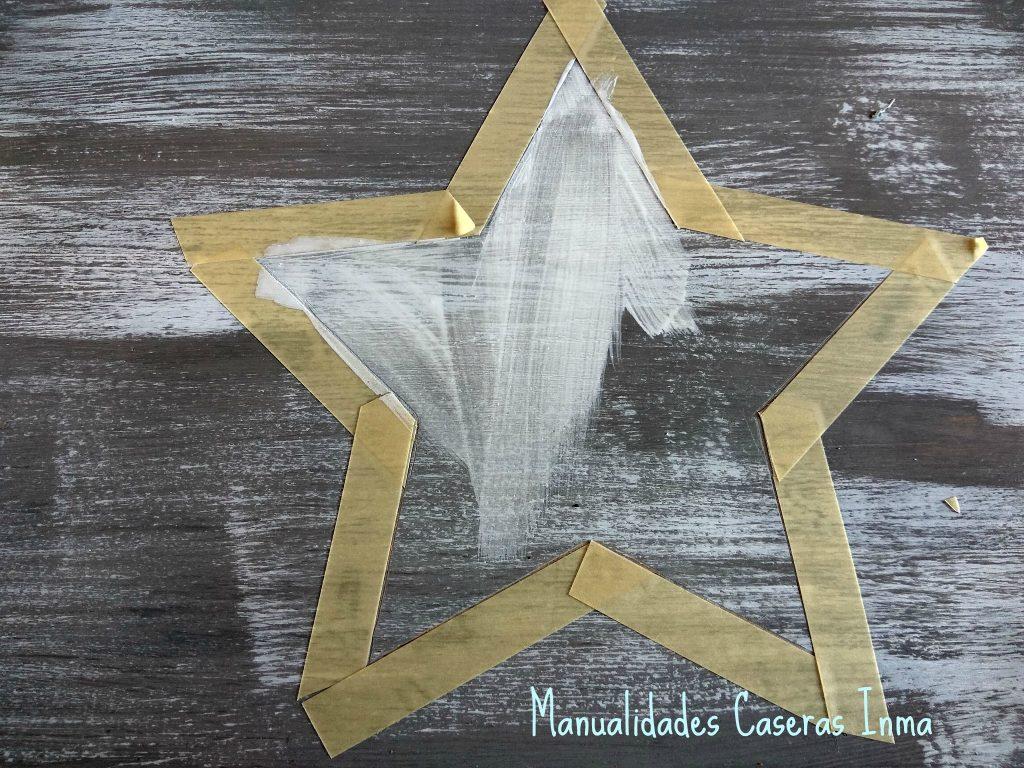 Manualidades Caseras Inma Caja de madera con estrella fase de lijado