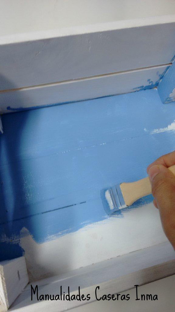 Manualidades Caseras Inma _Caja de madera_pintado por dentro