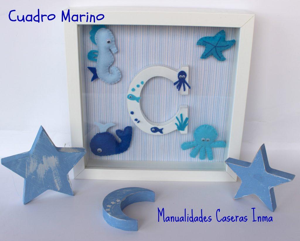 Manualidades Caseras Inma_ Cuadro de peces para cuarto de niño