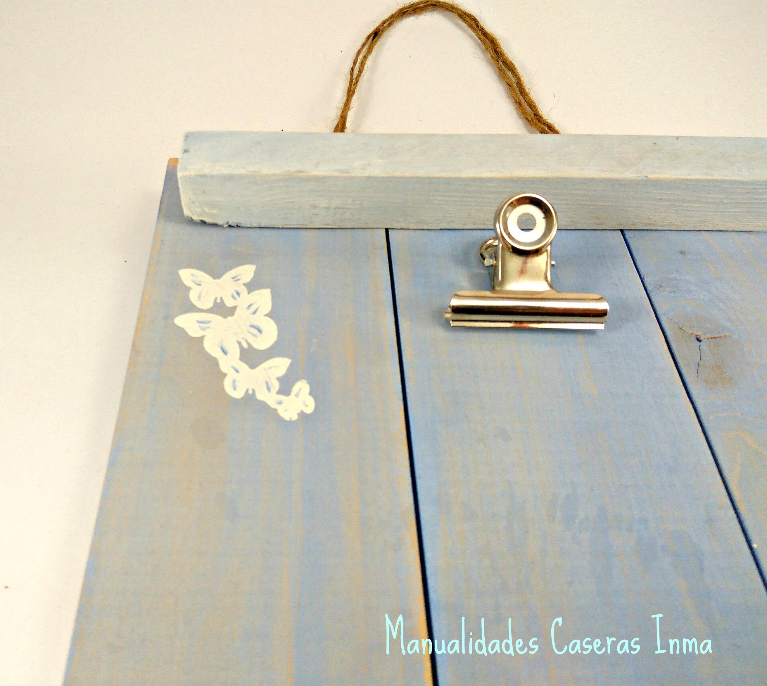 Manualidades Caseras Inma Portarretratos decorado con mariposas_Pintado de mariposas detalle