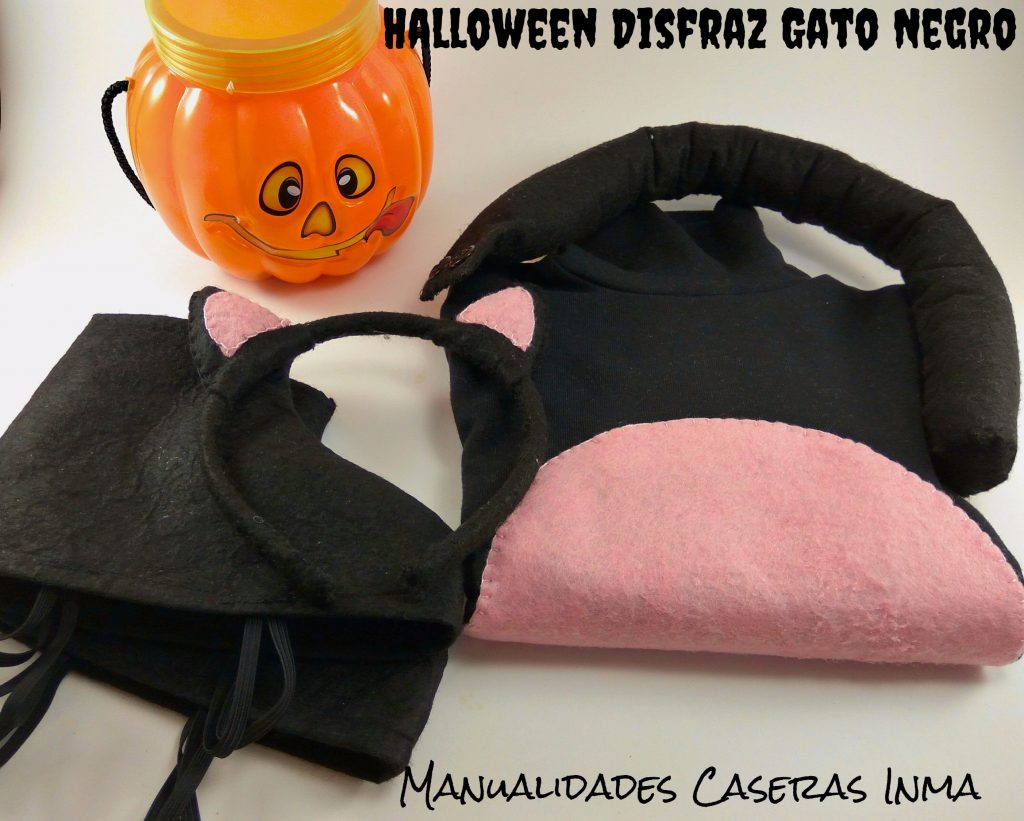 Manualidades Caseras Inma_Halloween disfraz de Gato Negro