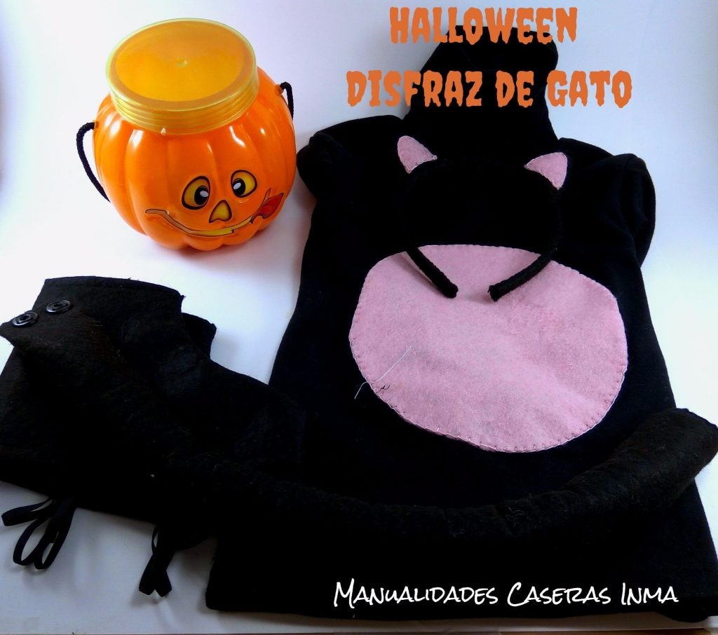 Manualidades Caseras Inma_ Halloween_Disfraz de Gato Negro