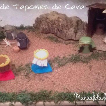 Manualidades con material reciclado:Nacimiento de tapones de cava
