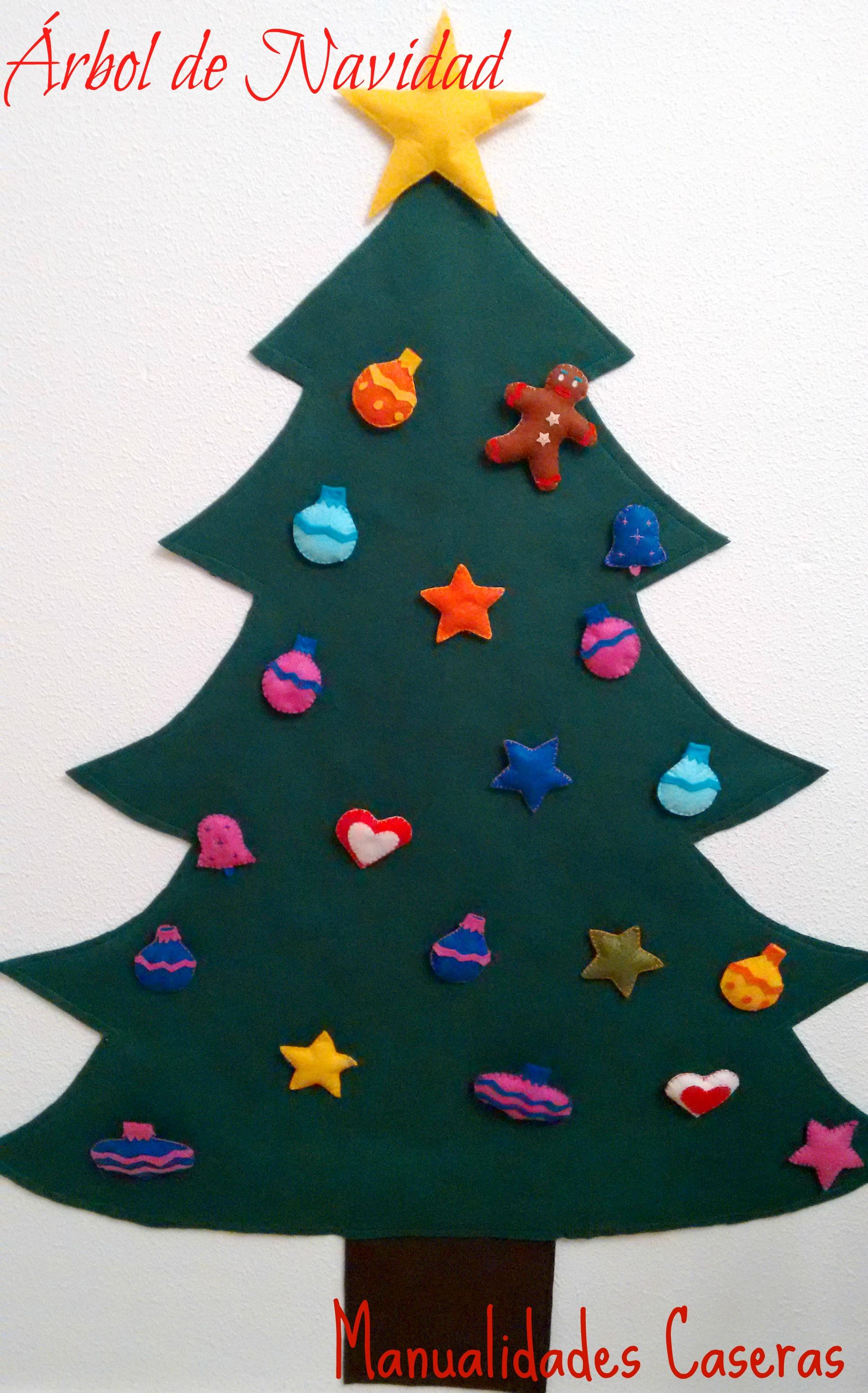 árbol De Navidad De Fieltro Manualidades Caseras Inma