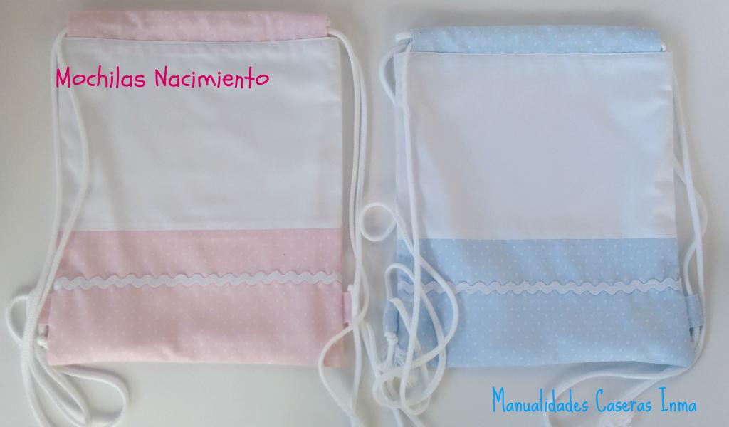 Manualidades Caseras Inma _Regalos para mellizos mochilas de nacimiento