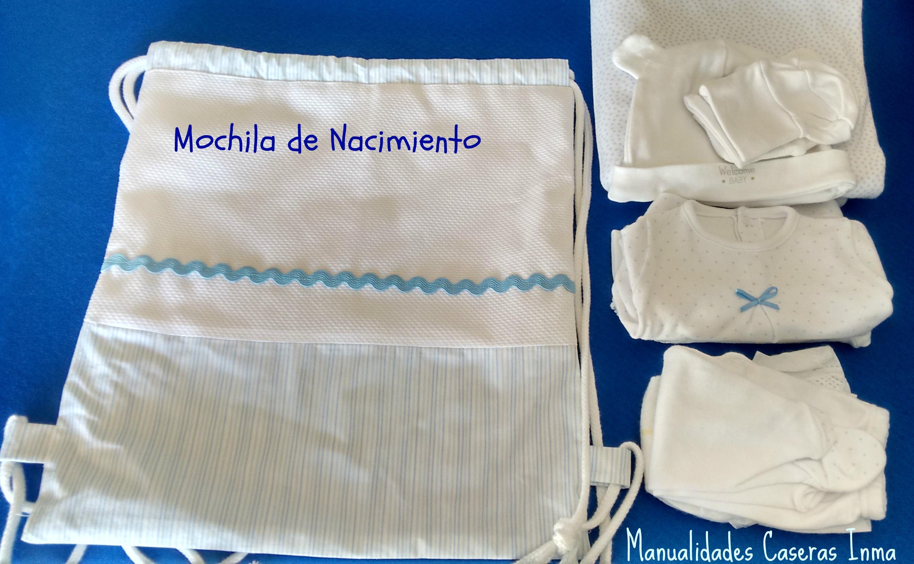 Manualidades Caseras Inma _Regalos para mellizos_Mochila nacimiento