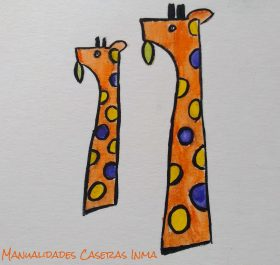 Manualidades Caseras Inma_ Boceto jirafa