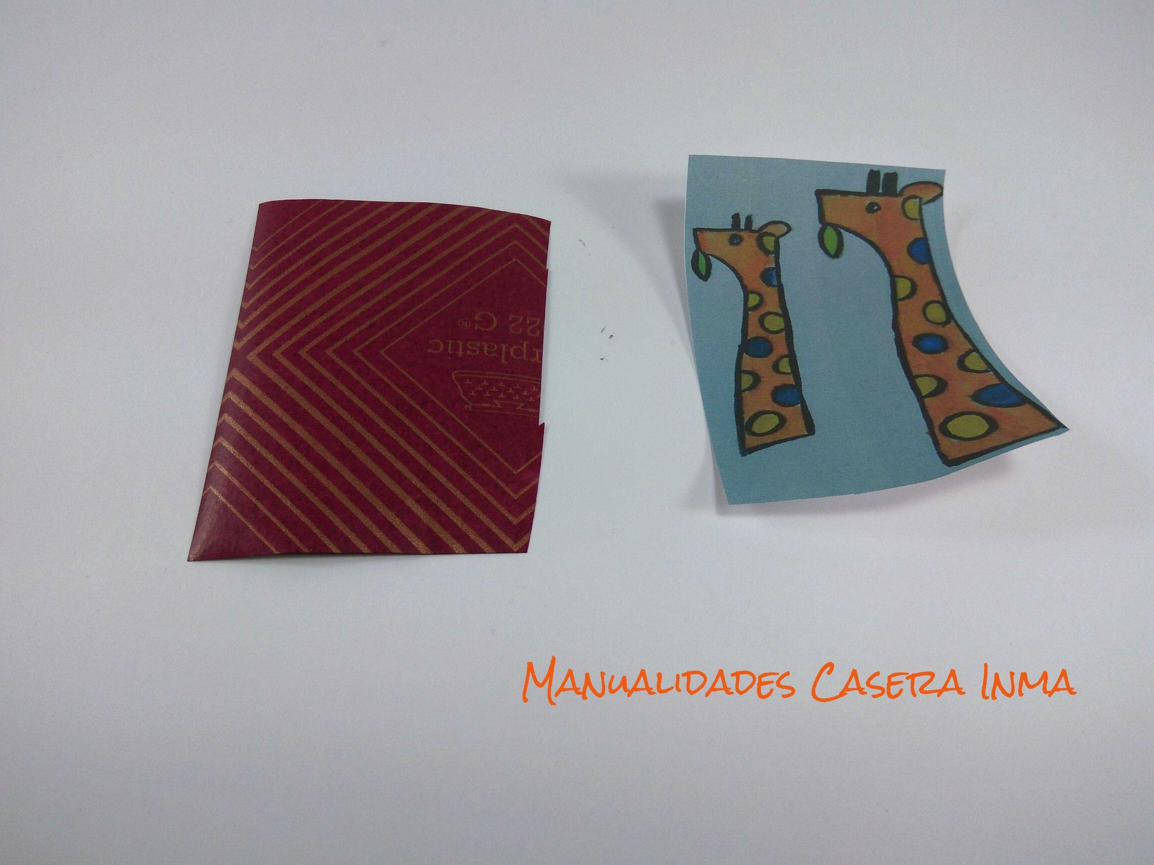 Manualidades Caseras Inma_ Boceto jirafa y calco