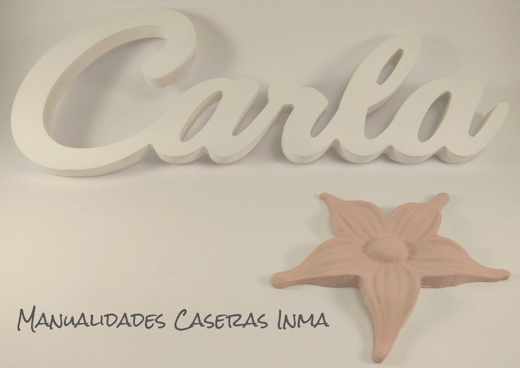 Manualidades Caseras Inma_ Nombres de madera Carla