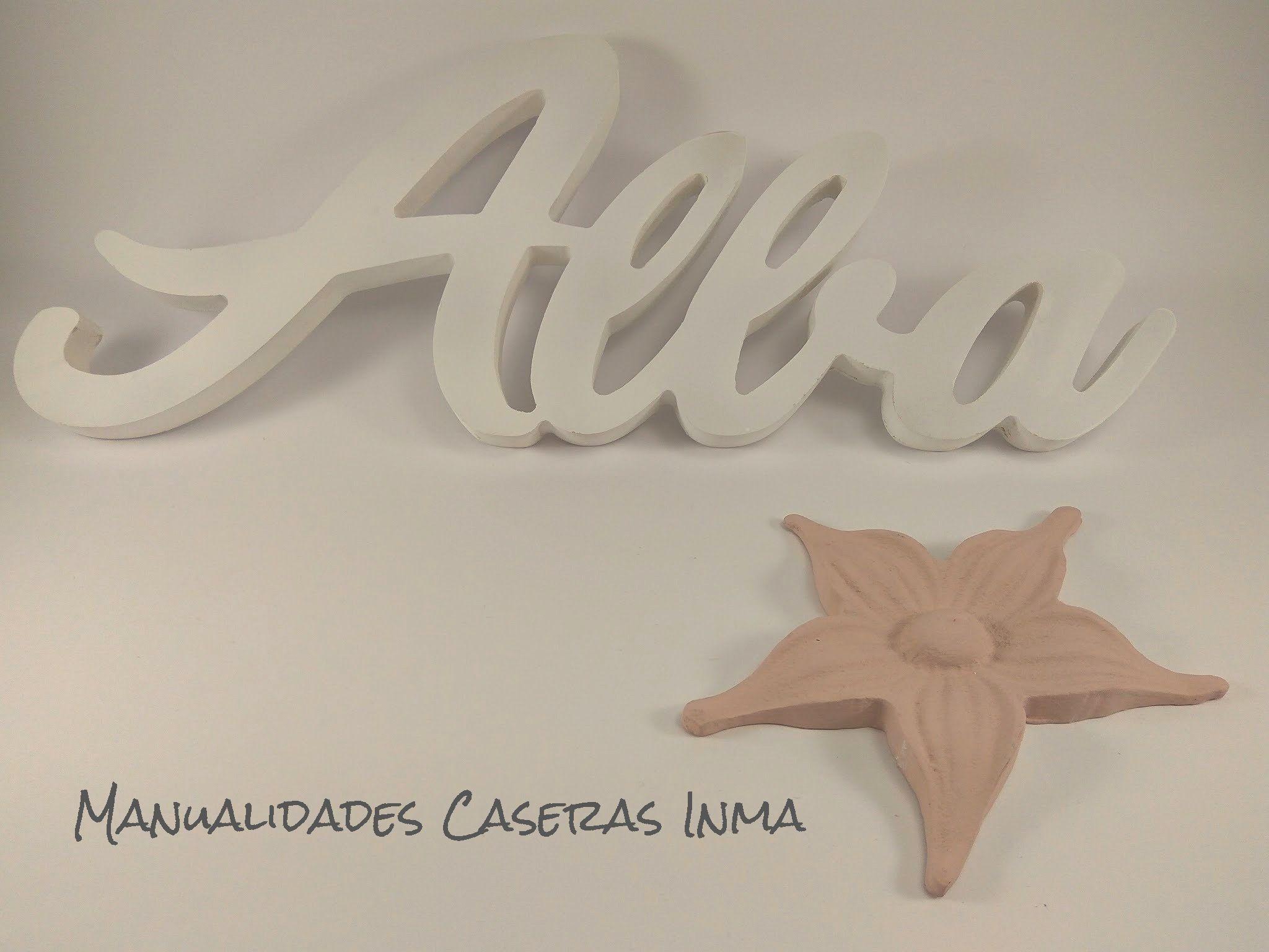 Manualidades Caseras Inma_ Nombres de madera Alba