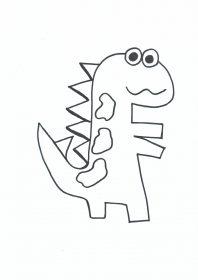 Manualidades Caseras Inma_ Patrón de dinosaurio 2