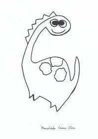 Manualidades Caseras Inma_ Patrón de dinosaurio 1