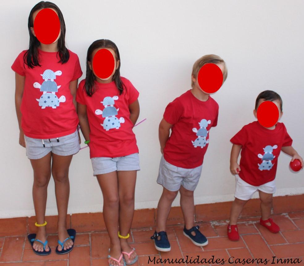 Manualidades Caseras Inma_ Camiseta tortugas con mis sobrinos por modelos