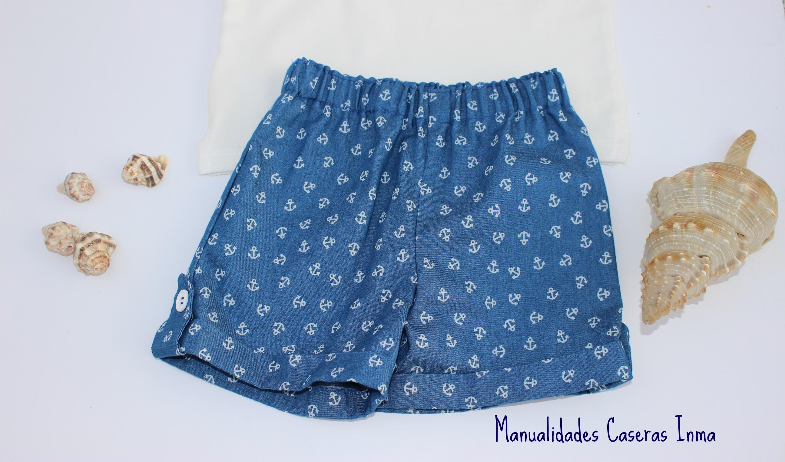 Manualidades Caseras Inma_ Conjunto marinero anclas_ Pantalón