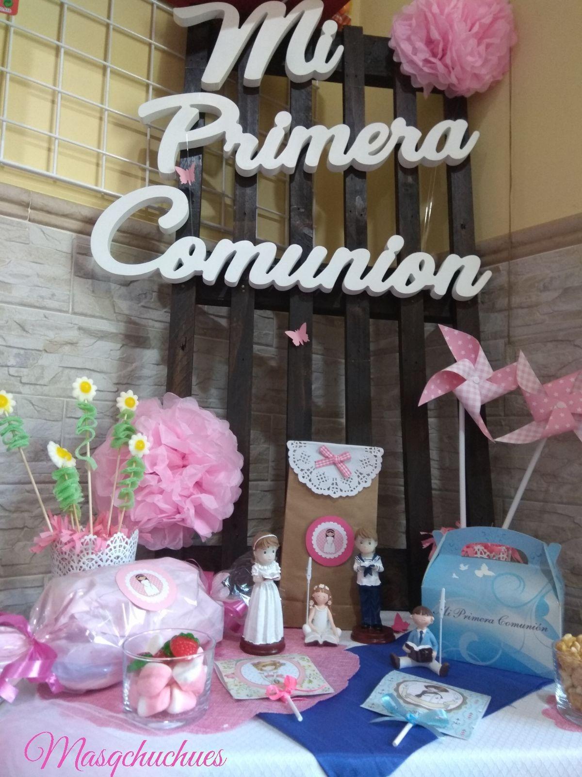 Manualidades Caseras Inma_ Nombres de madera_ Mi Primera Comunion