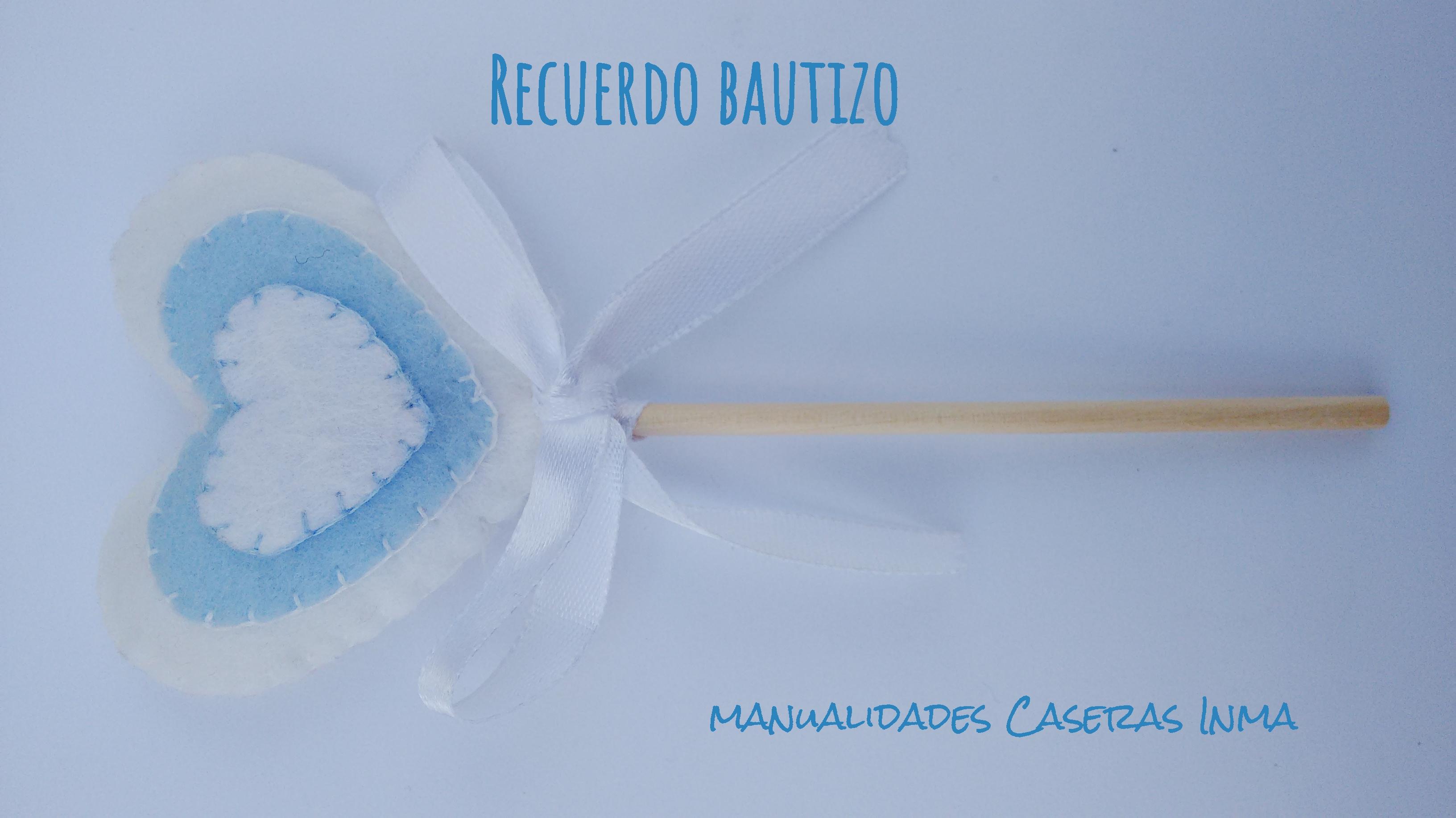 Manualidades Caseras Inma_ Recuerdo de bautizo sencillos