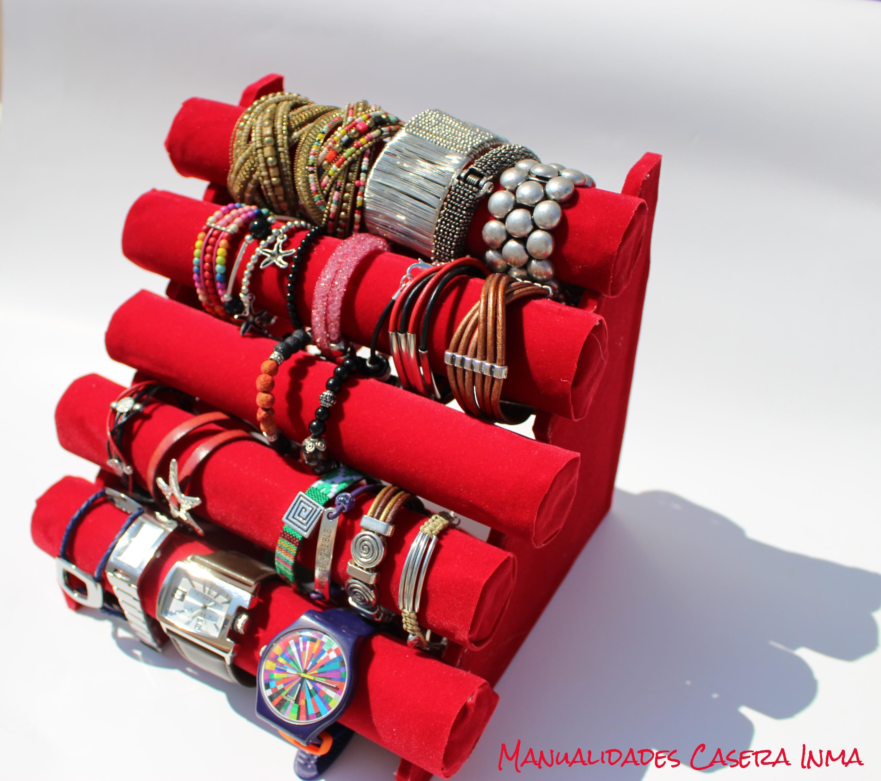 Manualidades Caseras Inma_ Organizador porta pulseras y relojes