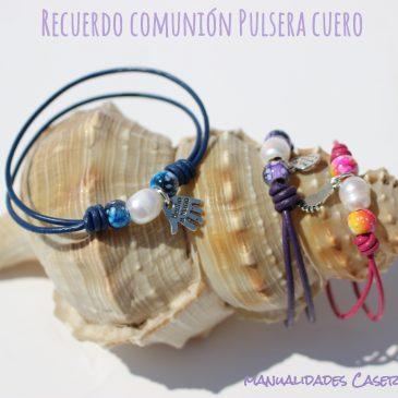 Recuerdo Comunión_Pulsera de Cuero