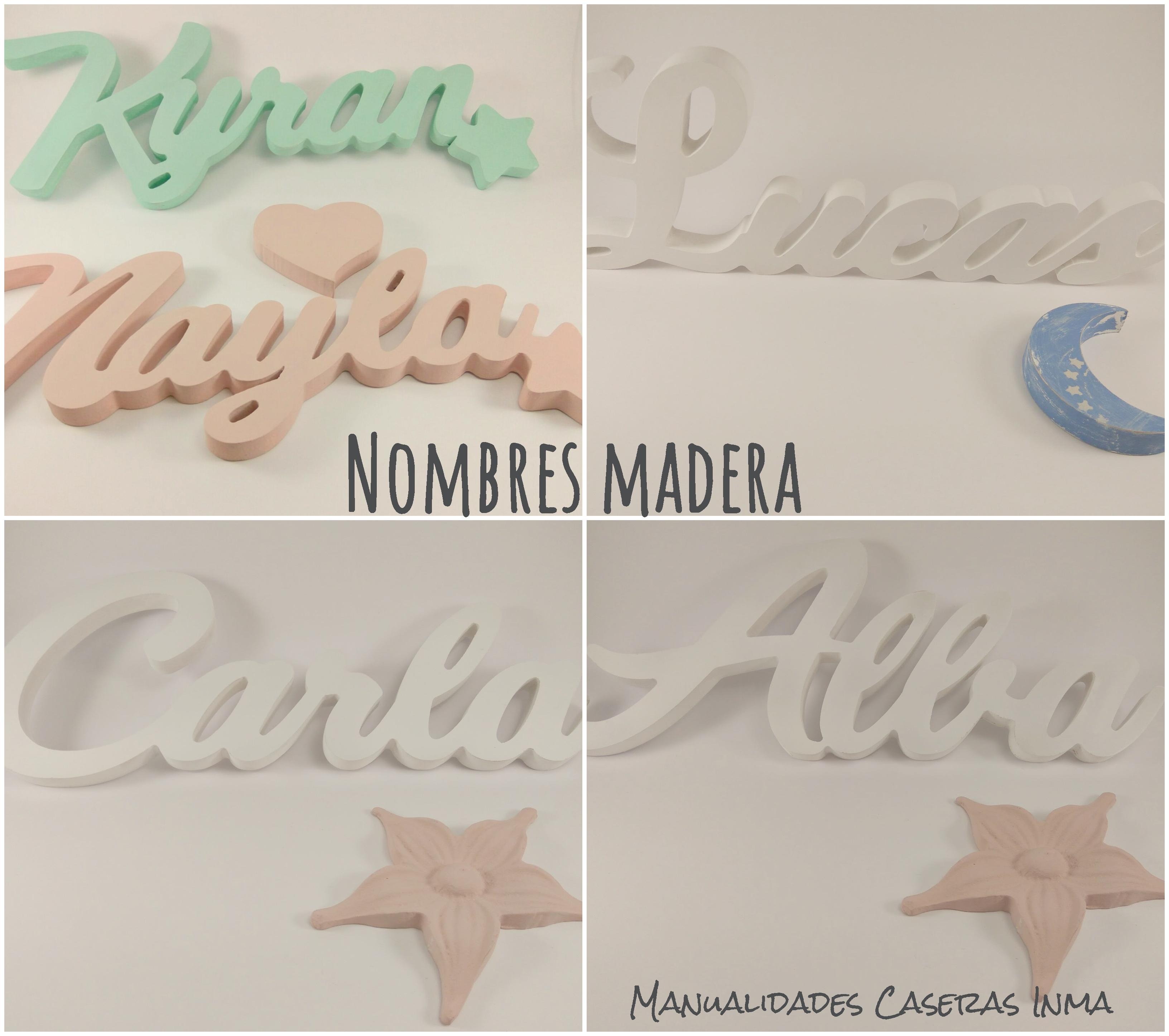 Manualidades Caseras Inma_ Nombres de madera pintatos con Chalk Paint