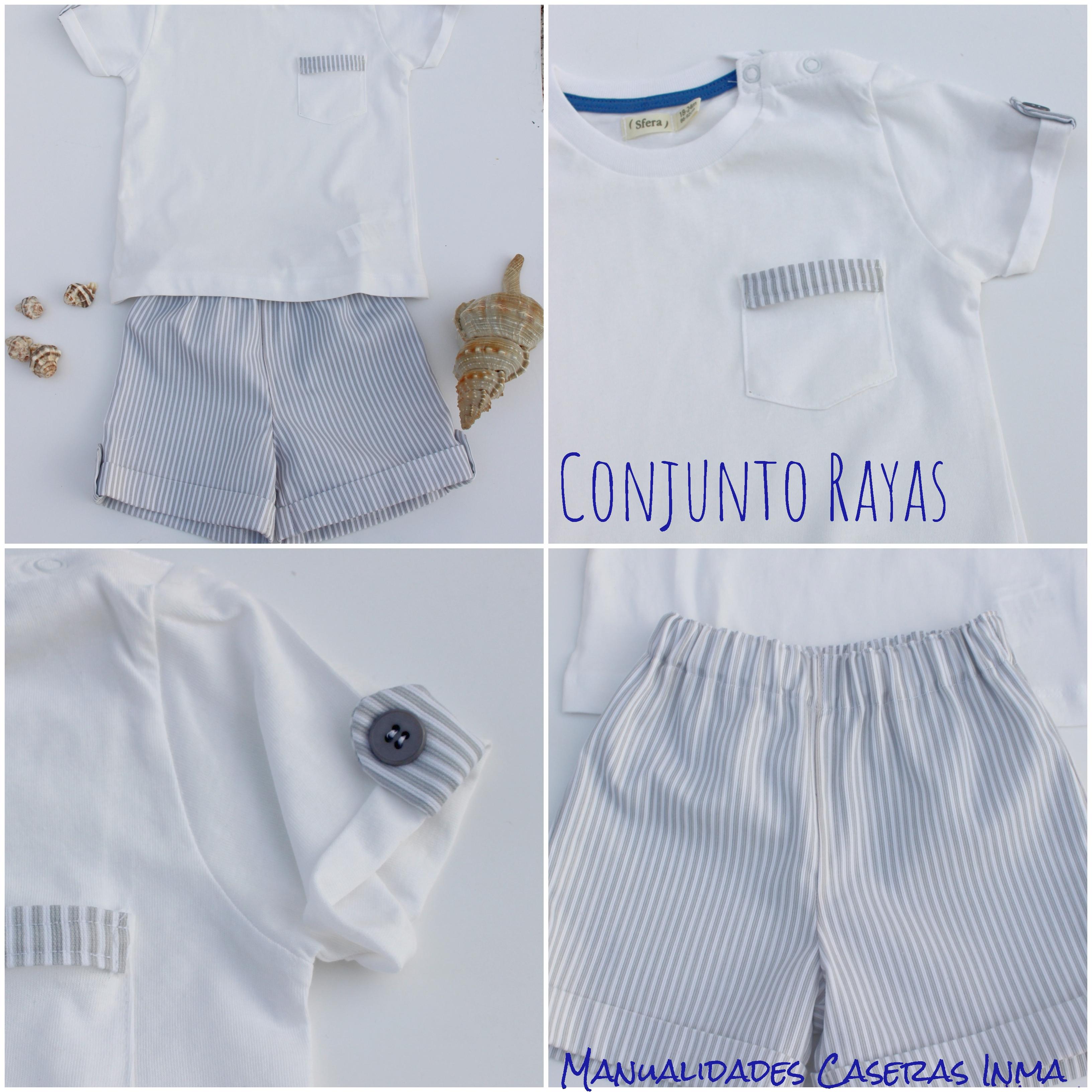Manualidades Caseras Inma_ Conjunto Rayas para niños