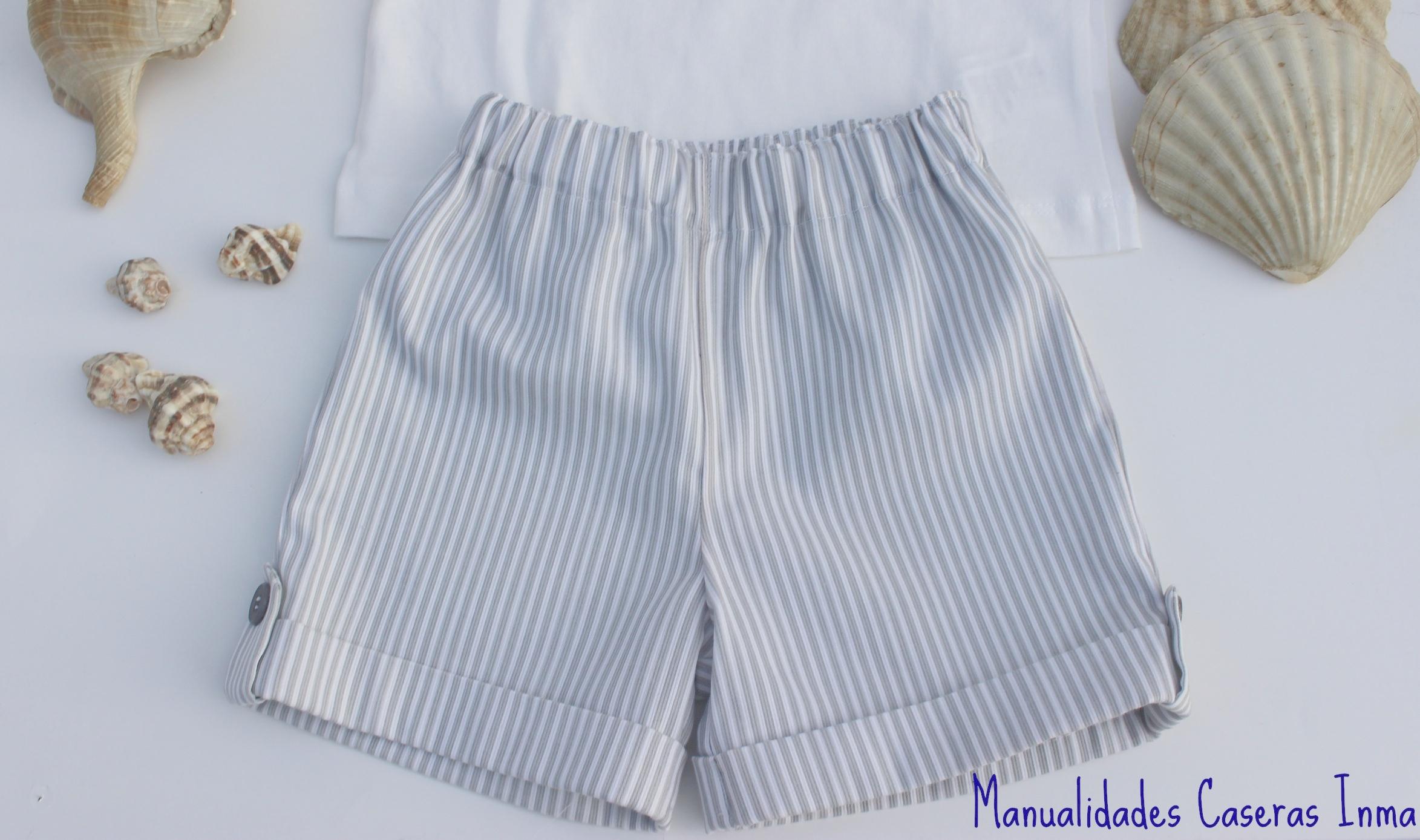 Manualidades Caseras Inma_ Conjunto Rayas para niños_detalle del pantalon