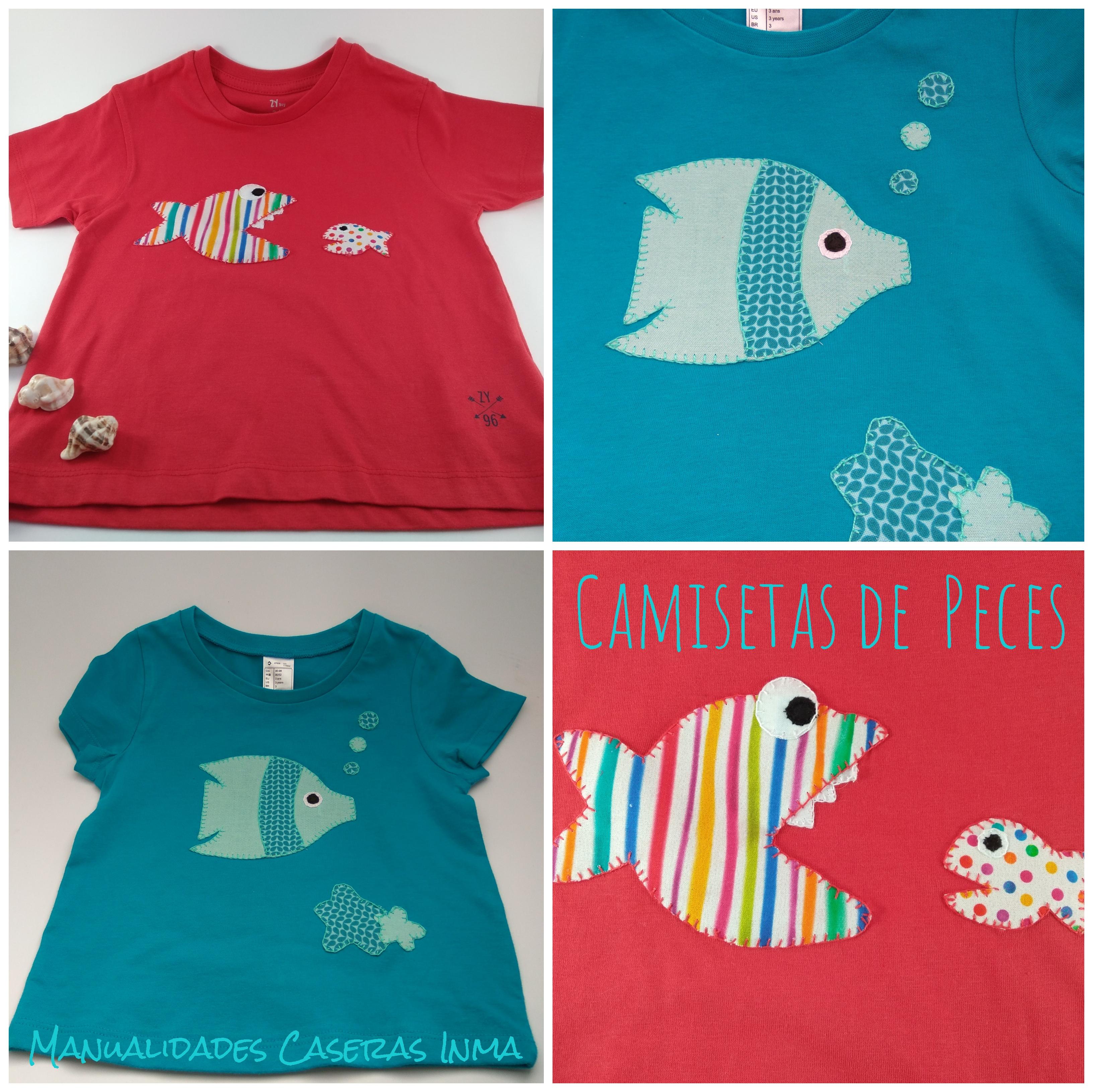 Manualidades Caseras Inma_ Camisetas de peces