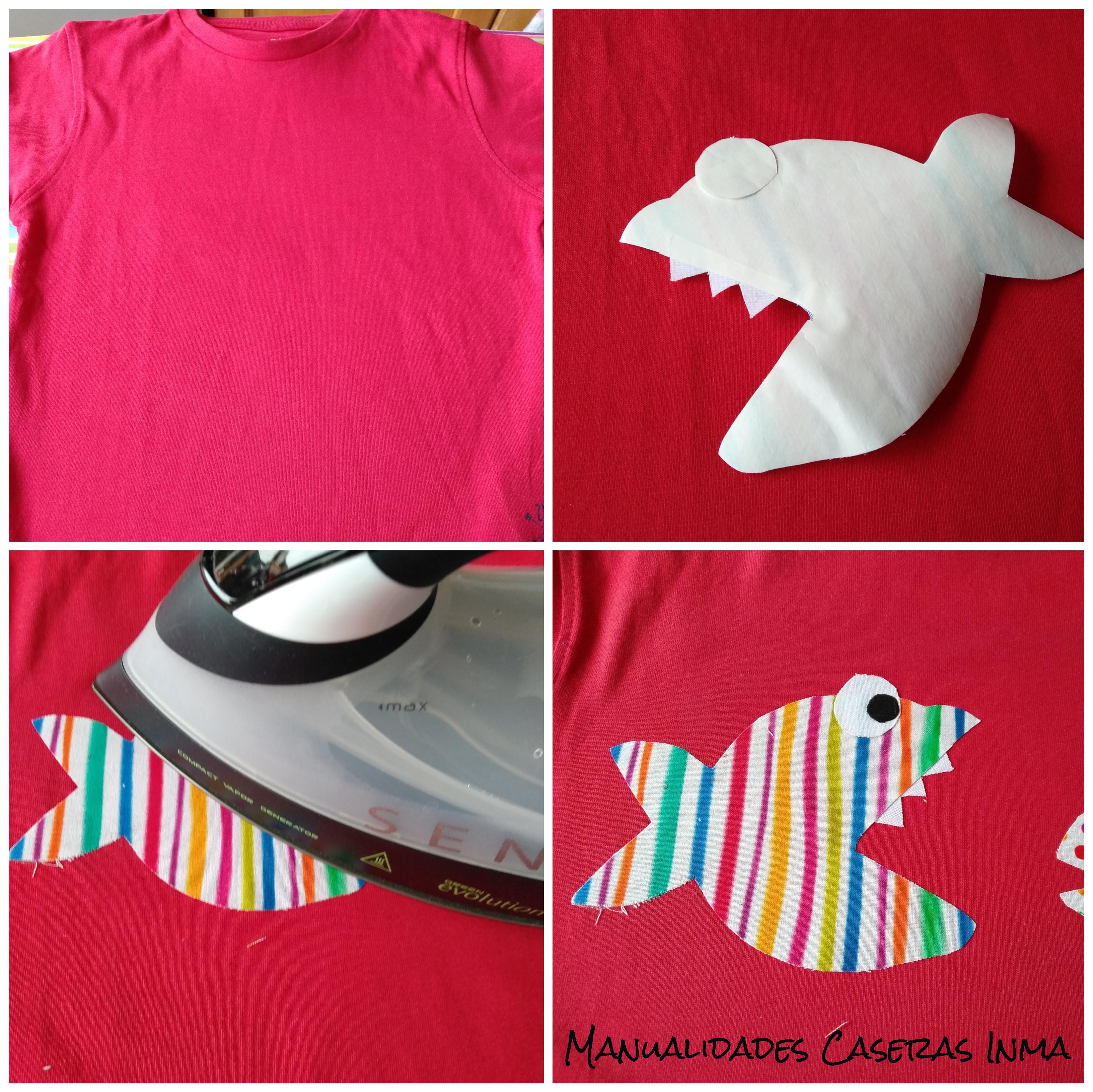 Manualidades Caseras Inma_ Tutorial de como pegar un aplique en una camiseta