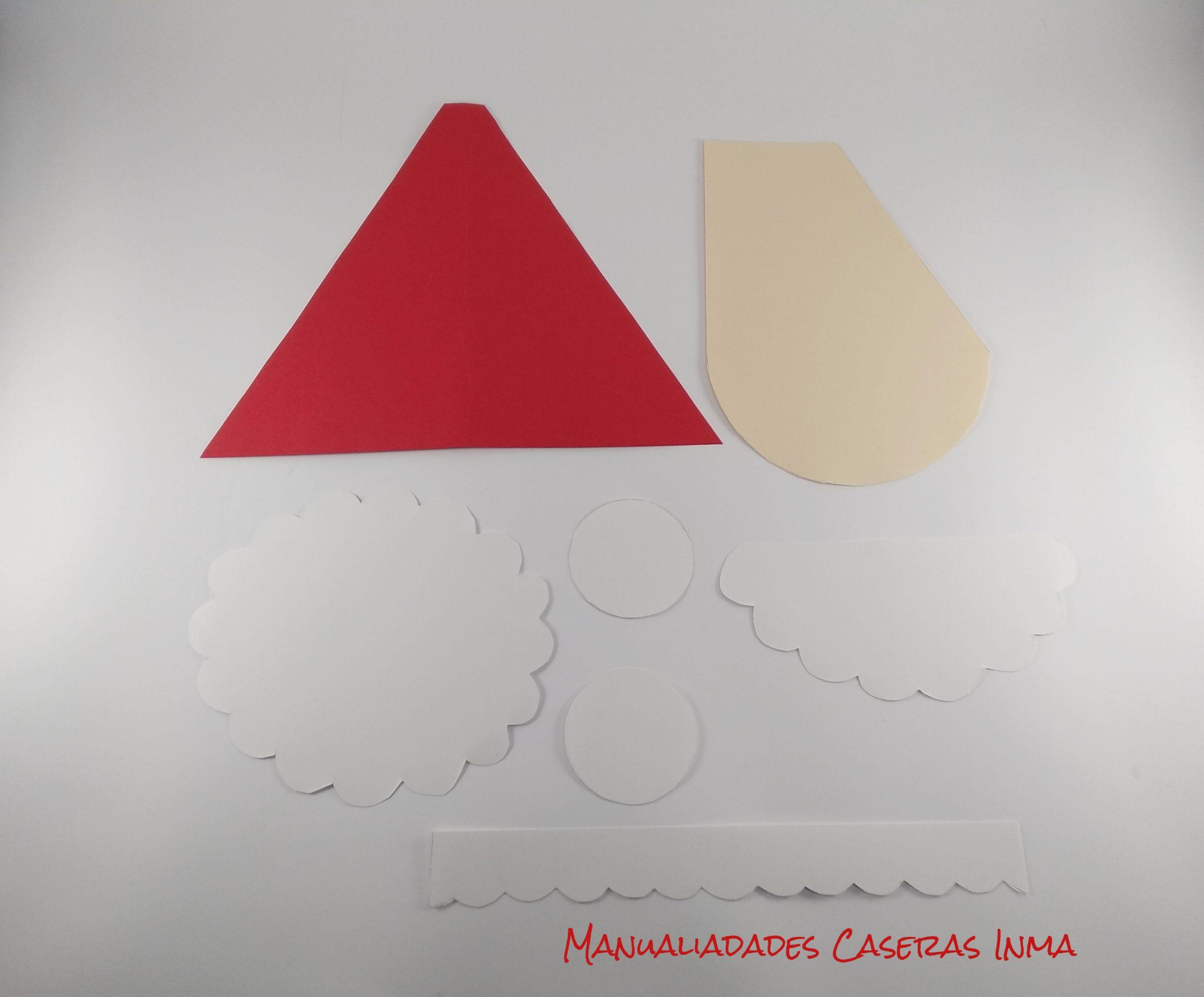 Manualidades Caseras Inma_ parte tarjeta Papa Noel