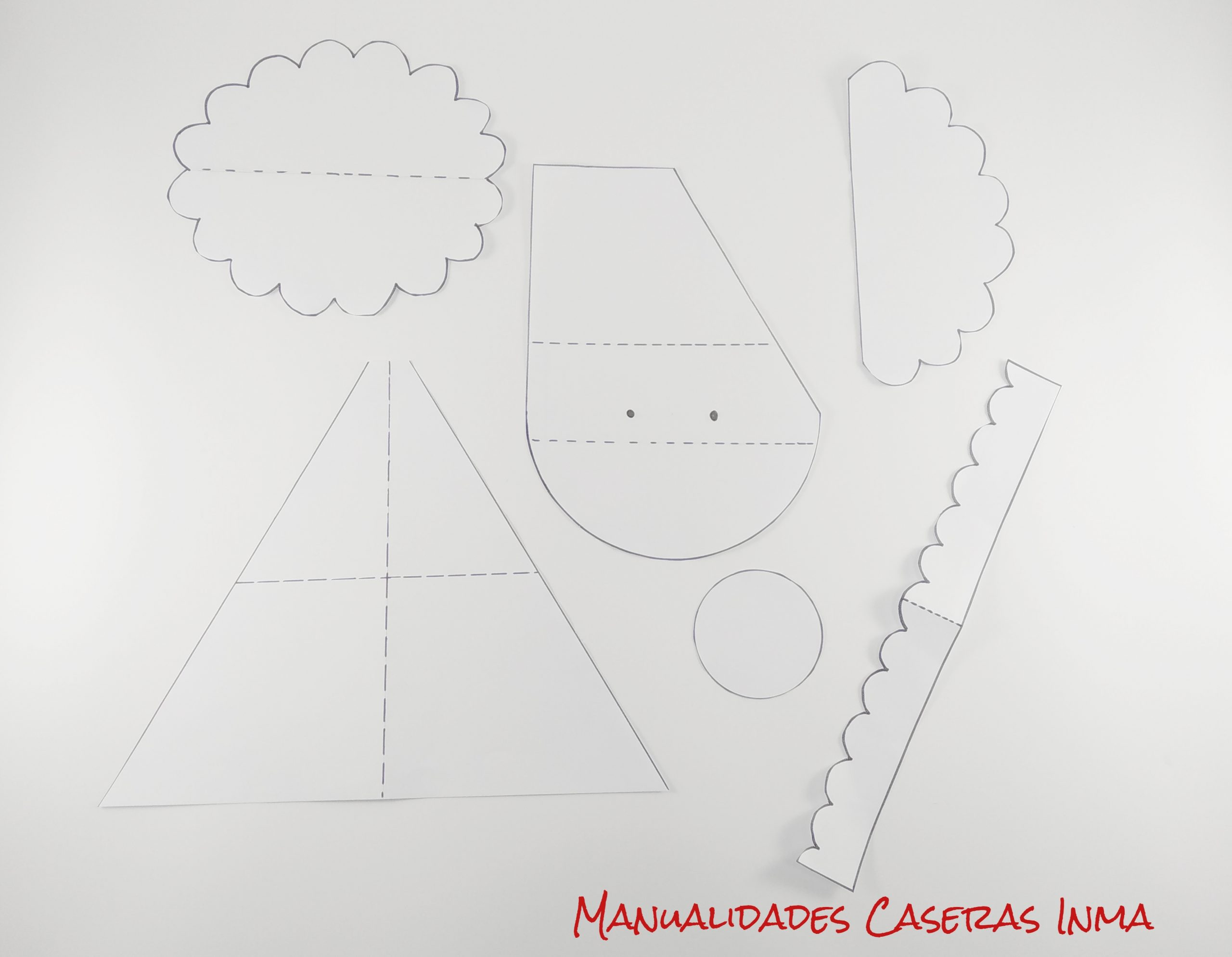 Manualidades Caseras Inma_ patrones tarjeta  Papa Noel