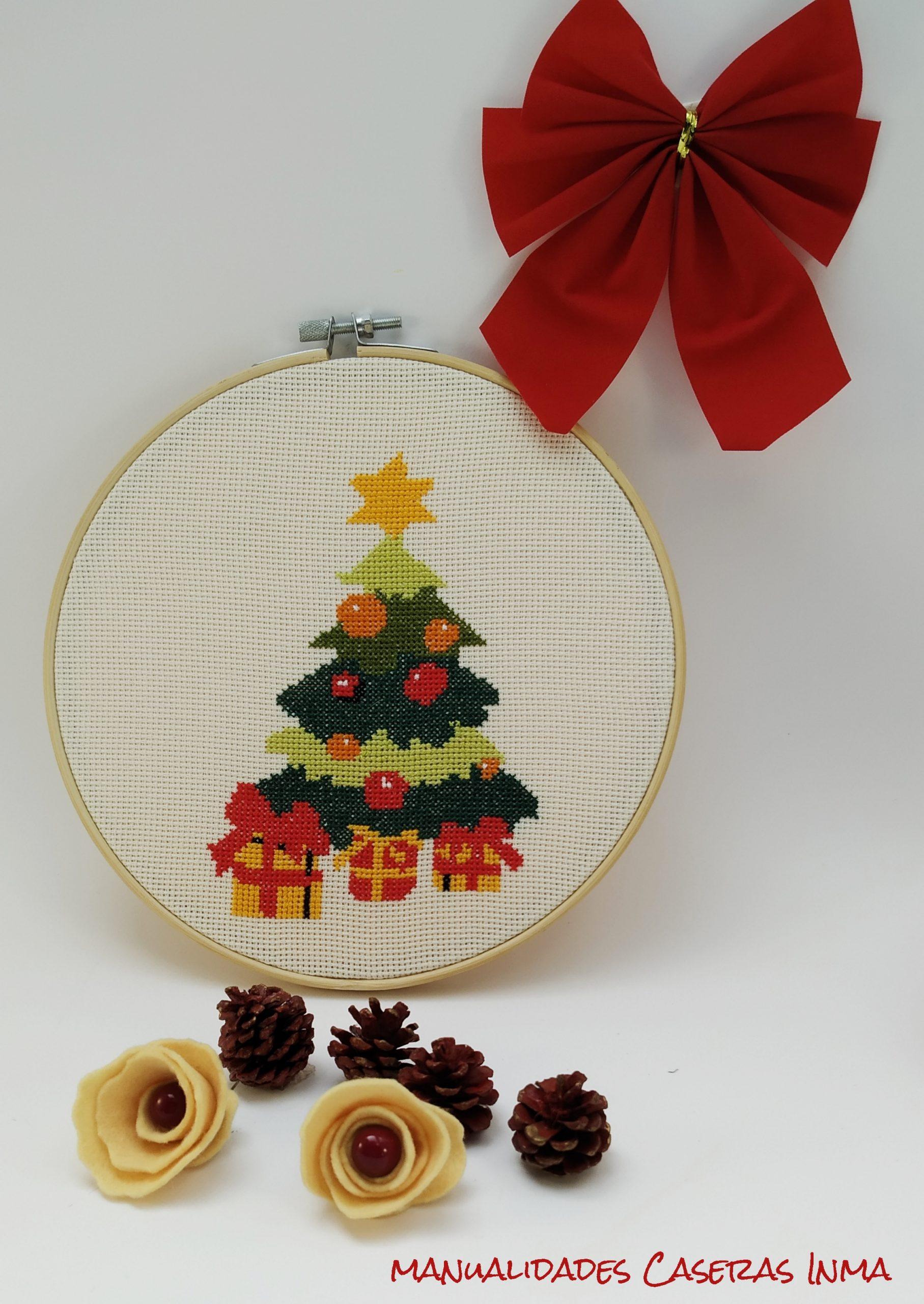 Manualidades Caseras Inma_ Bastidor navidad de arbol de navidad