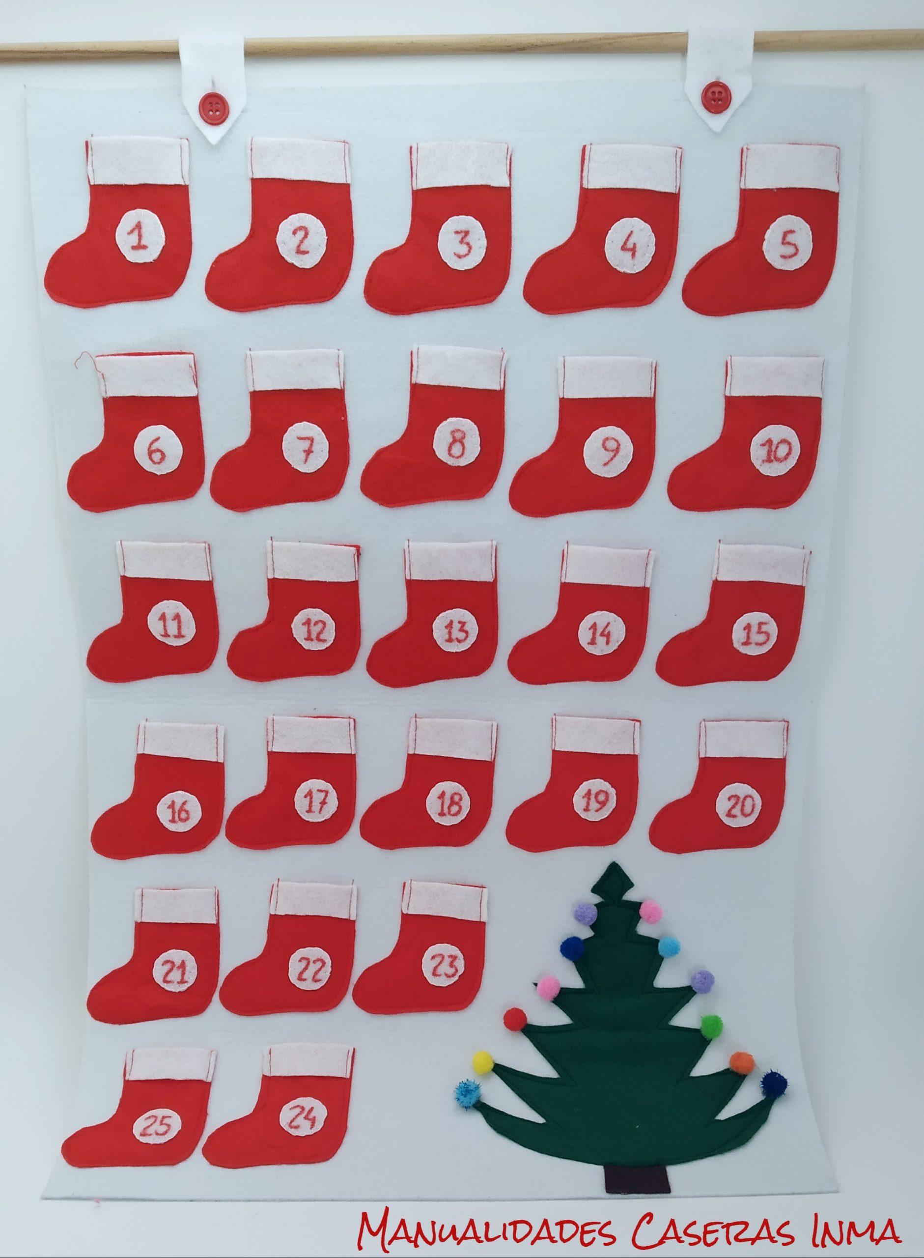 manualidades Caseras Inma_ Calendario de adviento_detalles de la botas y el arbol de navidad