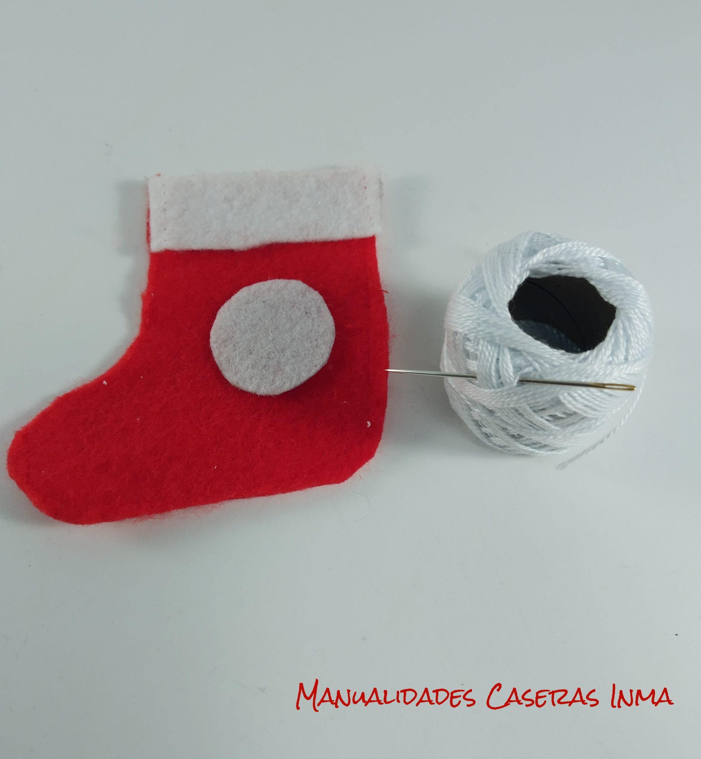 manualidades Caseras Inma_ Calendario de adviento_Como coser las botas