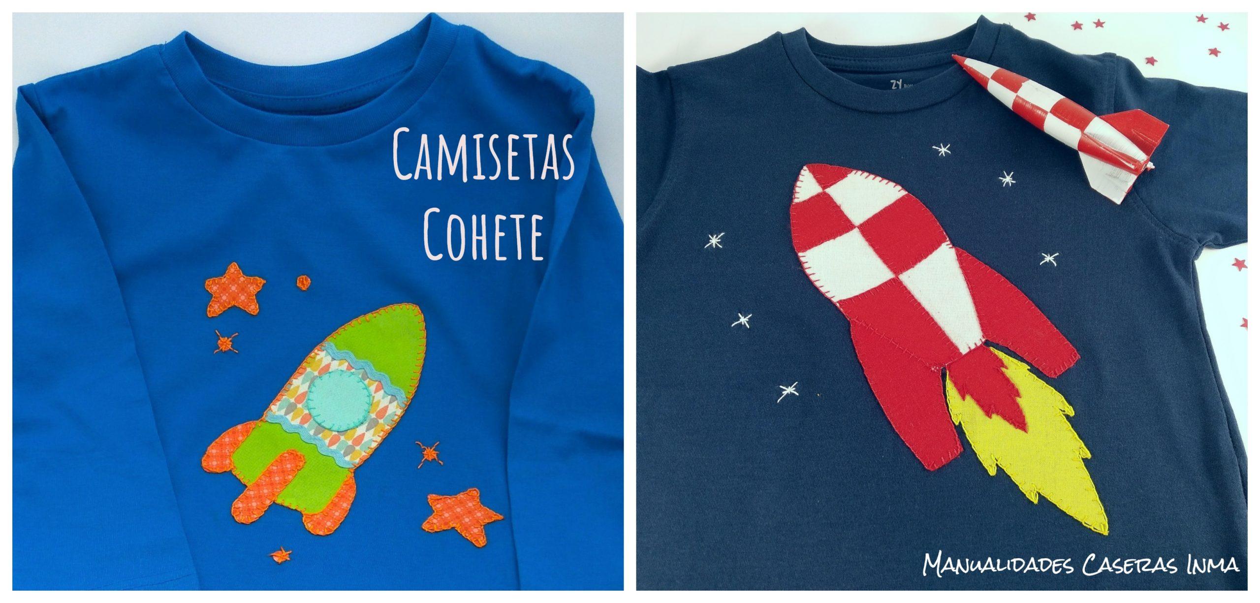 Manualidades Caseras Inma_ Camiseta cohete